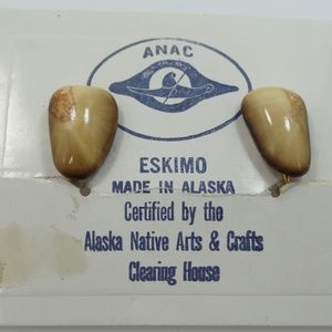 Eskimo Alaska Native Arts & Crafts Earrings MOC
